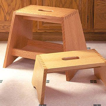 step stool  box joints  woodworking plan step