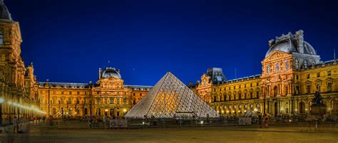 louvre  night paris france hdr farbspiel photography