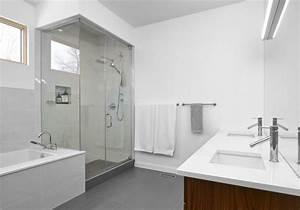 carrelage gris bien plus intriguant que vous l39imaginez With salle de bain sol gris mur blanc