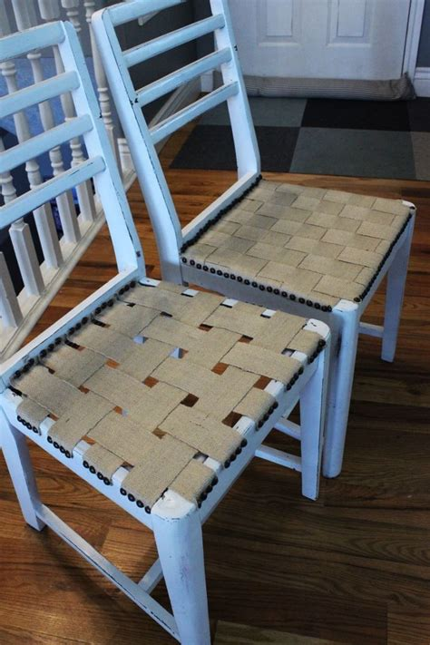refaire une chaise diy jute chair seat give an chair purpose