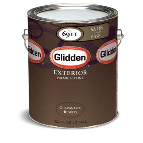 glidden premium 1 gal satin exterior paint gl6911
