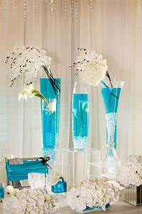 274 best images about tall centerpieces on pinterest With turquoise wedding centerpiece ideas