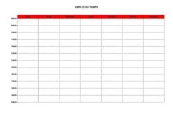 modèle fiche horaire salarié lettre de preavis logement non meuble 16 modele emploi