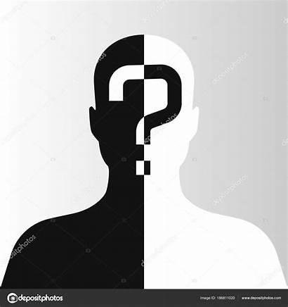Incognito Unknown Person Silhouette Vector Background Illustration