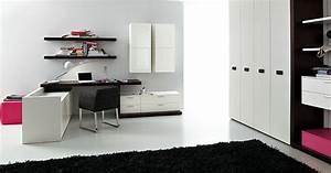 davausnet idee deco chambre ado noir et blanc avec With chambre fille noir et blanc
