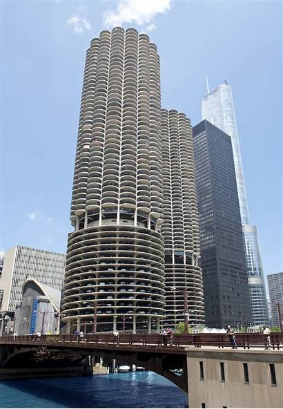 Marina Buildings Building Architecture Chicago Ibm Modernist
