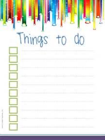 Checklist to Do List Template