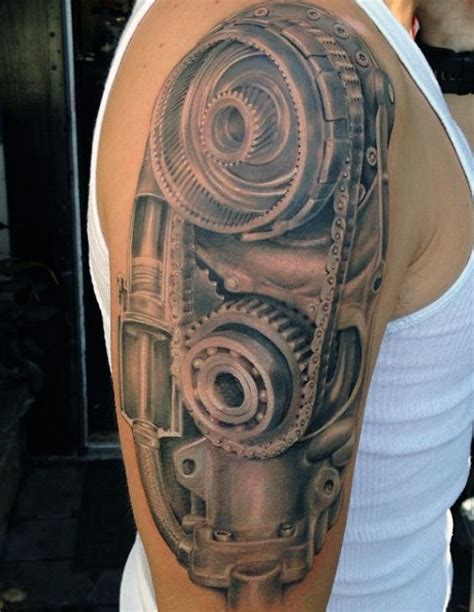 50 Mechanic Tattoos For Men  Masculine Robotic Overhauls
