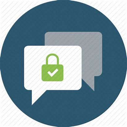 Icon Chat Communication Channel Encrypted Secure Comment