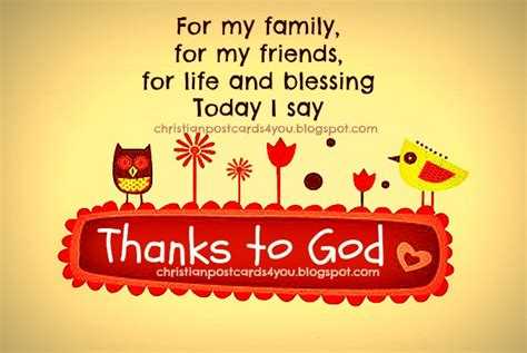 Thank God Family Friends Quotes