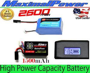 high power li po lithium polymer battery  parrot ardrone  power edition ebay