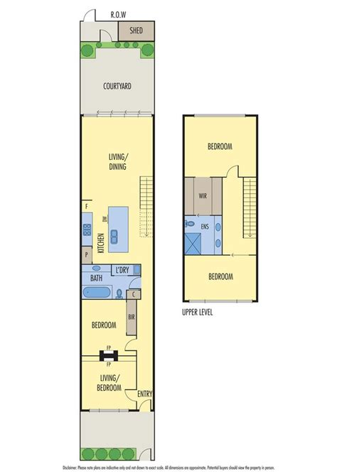 floorplan  single fronted house  traditional front