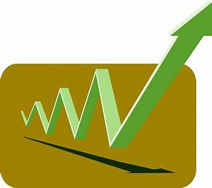 Clipart - financial graph arrows green up