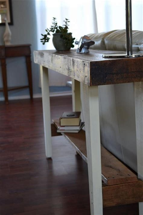Narrow Sofa Table Diy by Remodel The Furniture With Diy Sofa Table