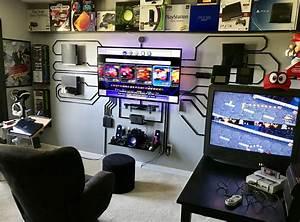 Gaming Zimmer Ideen : gaming desks interior design pinterest heimkino tv w nde und kreative ideen ~ Markanthonyermac.com Haus und Dekorationen
