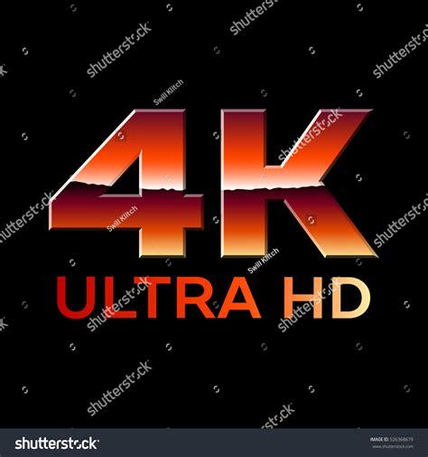 ultra hd format logo shiny stock vector