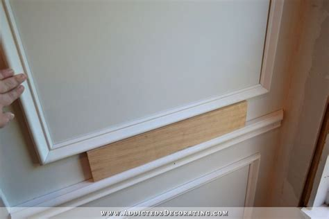 Panel Molding Wainscoting by How To Install Picture Frame Molding Half Wall Stairway