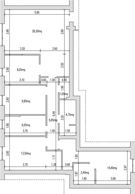 Planimetria Da Letto - progetto 100 mq architettura a domicilio 174