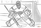 Coloring Hockey Nhl Carey Pages Drawing Goalie Printable Connor Mcdavid Colouring Drawings Ice Supercoloring Sports sketch template