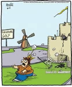 Mini Golf Cartoon Funny