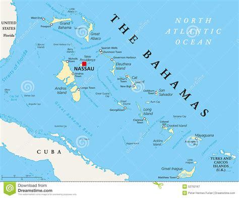 La Carte Politique Des Bahamas Photo stock - Image: 52752167