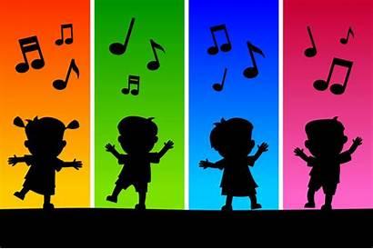 Movement Preschool Clipart Class Toddlers Dance Silhouettes