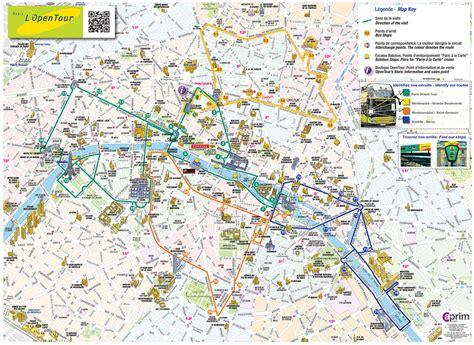 Touristischen Karte Von Paris  Sehenswürdigkeiten Und Touren