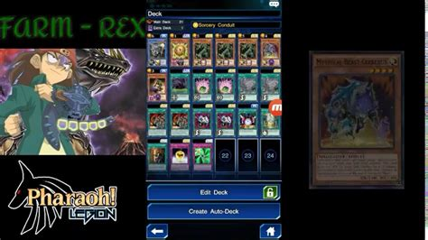Rex Raptor Deck Build by Farmeando A Rex Raptor Yu Gi Oh Duel Links Deck