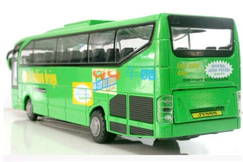 scale pull  function kids green diecast  bus