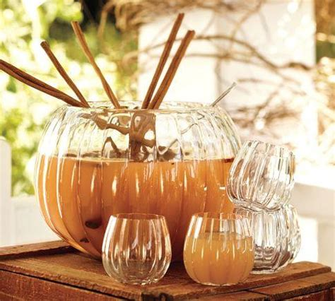 pumpkin punch bowl pottery barn