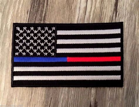 Thin Blue Line Thin Red Line Combo American Flag Patch