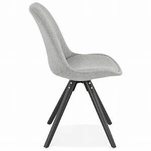 Chaise En Tissu Gris : chaise design ashley en tissu pieds noirs gris clair ~ Teatrodelosmanantiales.com Idées de Décoration