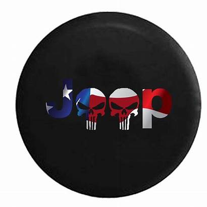 Jeep Tire Spare Punisher Covers Wrangler Flag