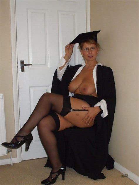 British Busty Milf Sandy Dressed As A School Mistress 20