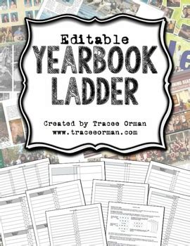 yearbook ladder editable template  page signatures