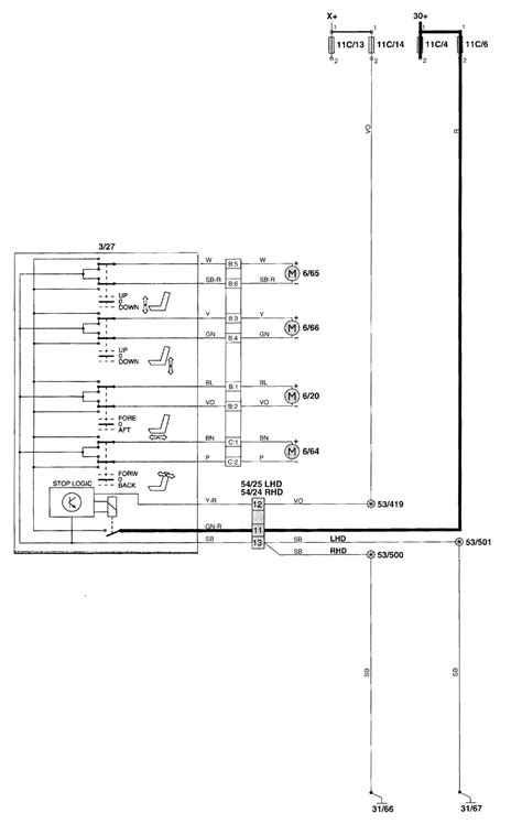 volvo v70 2001 2002 wiring diagrams power seat