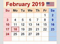 February 2019 Calendar Printable Templates This site