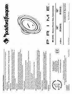 User U0026 39 S Manual Of Rockford Fosgate P2d4 User U0026 39 S Guide And