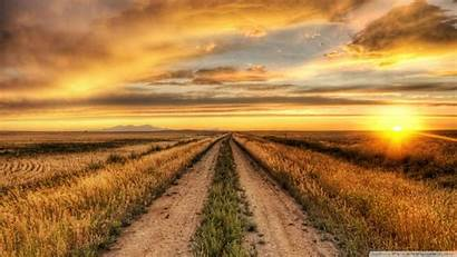 Country Sunset Road Wallpapers Desktop Dirt Farm