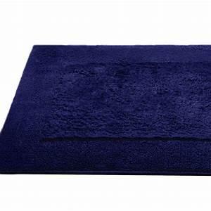 tapis de bain 70x120cm coton uni dream bleu marine With tapis de salle de bain bleu