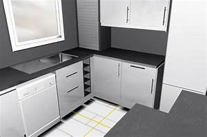angle plan de travail cuisine 3 de ikea pour y poser un With plan de travail cuisine angle