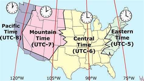 popular time zone map usa whatsanswer