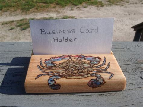 Handmade Wood Burned Cypress Business Card Holder Blue Professional Business Card Template Illustrator Layout Indesign Drawing Images Adobe Tutorial Using Visiting In Photoshop Cs6 With Two Job Titles Design Pictures