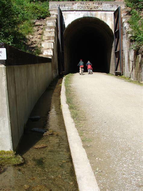 bridgehuntercom route   hiawatha trail taft tunnel