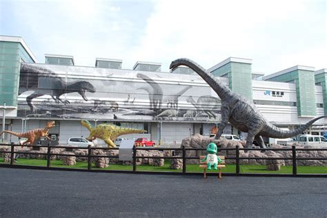 Dinosaurs Take Over Fukui Station In Western Japan Japan