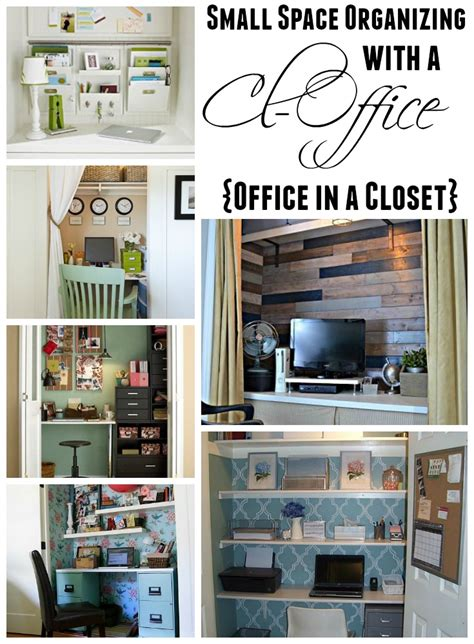 get organized in a small space with a cloffice office