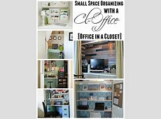 Get Organized in a Small Space with a Cloffice {Office