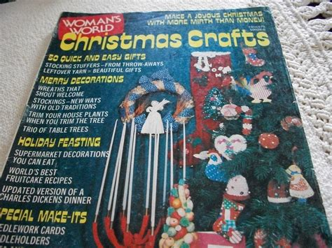 Woman's World Christmas Crafts Magazine 1975 Cost To Paint Exterior House Images Painting Interior Doors Brush Or Roller Stucco Ideas 3d Texture Software Burgundy How Get Out Of Clothes Wall