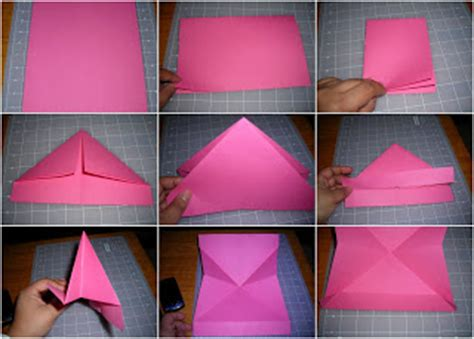 rad linc crafts folded paper heart note