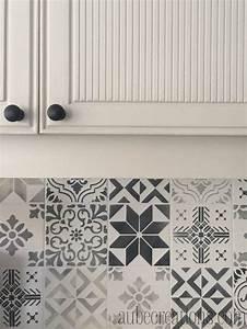 idee relooking cuisine peindre carrelage mural avec des With carreaux de ciment mural